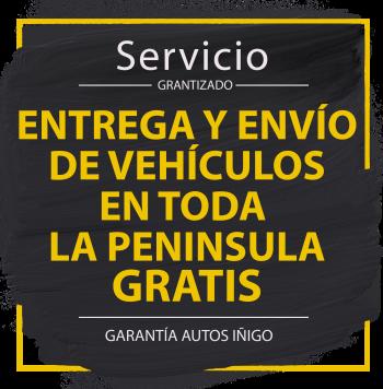 Entrega y envío de vehículos en toda la peninsula GRATIS